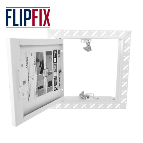 Flipfix Metal Door Beaded Frame Open