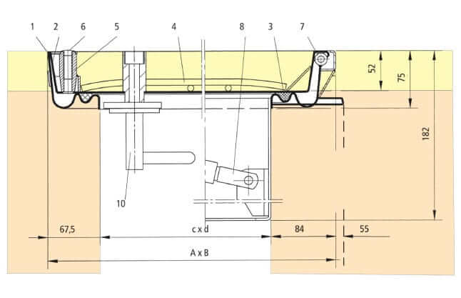 Section-Drawing-SBV-GDZ-Aluminium