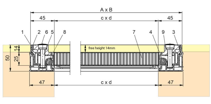 Section-Drawing-SCLA-SL-Aluminium