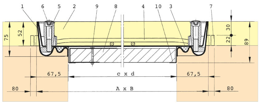 Section-Drawing-SBV-F90-Aluminium